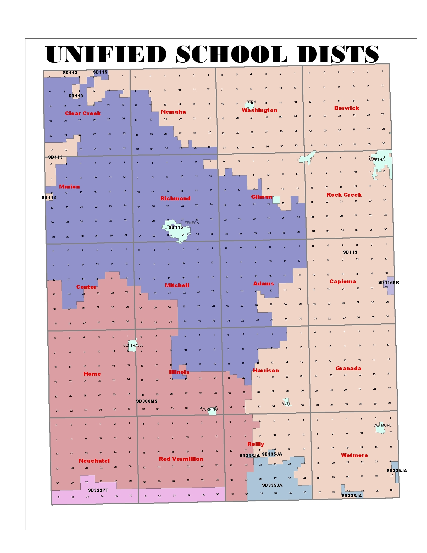 picture about Kansas County Map Printable named EMS Districts